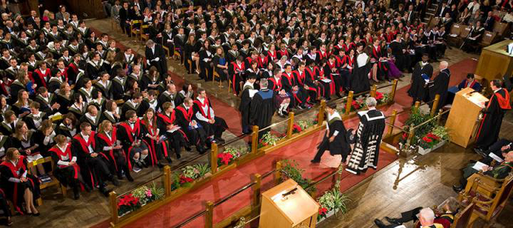 Photo of a graduation ceremony